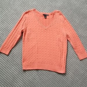 Will Smith Coral Colored Spring Sweater